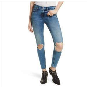 Free People busted knee high waist jeans size 29